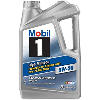 5W-30 MOBIL 1 ( High Mileage - Advanced Fully synthetic motor oil) 5Litres