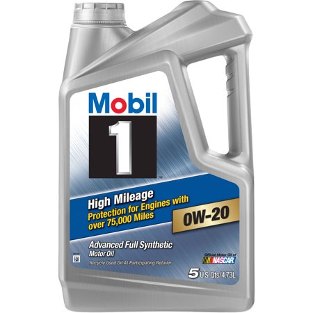 0W-20 MOBIL 1 (High Mileage - Advanced Full synthetic motor oil) 5Liters